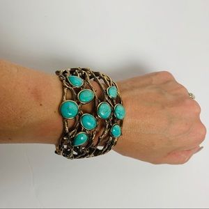 Studio Barse Jewelry - Studio Barse | Real Turquoise and Brass Cuff